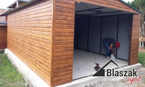 Garaż drewnopodobny - producent