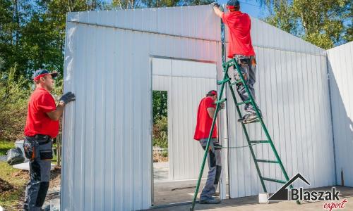 Zamontowanie garażu - blaszaka